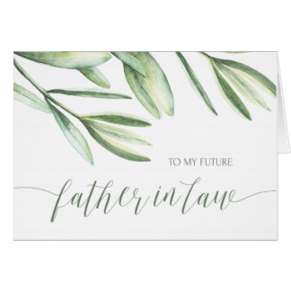 To My Future Father in Law Tropical Wedding Card