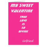 To my girlfriend romantic valentines cards