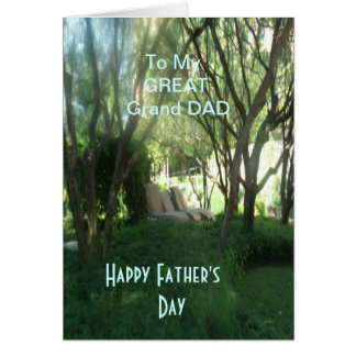 To My Great Grand Dad Card