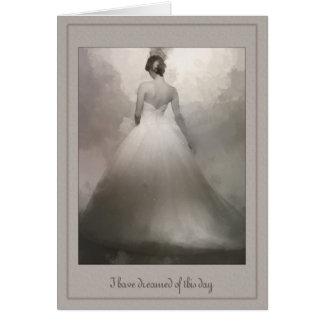 To my Husband Beautiful Bride dreaming wedding Card