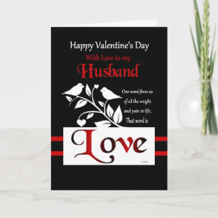 to my husband happy valentines day holiday card