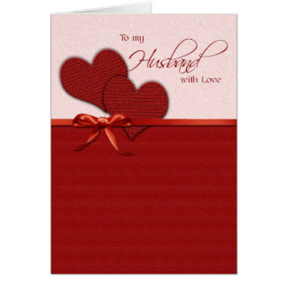To my husband on Valentine s Day Greeting Card