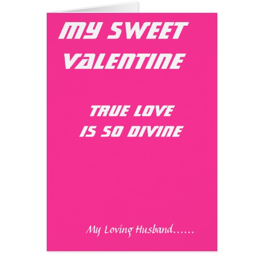 To my husband on valentine's day cards