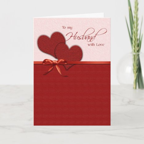 To my husband on Valentine's Day Holiday Card