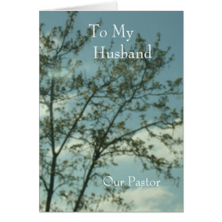 To My Husband  Our Pastor Card