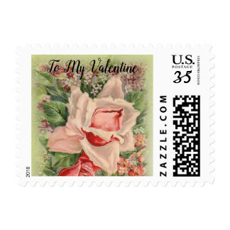 To My Love on Valentine's Day Floral Victorian Postage