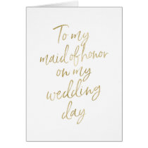 To my maid of honor on my wedding | Stylish Gold