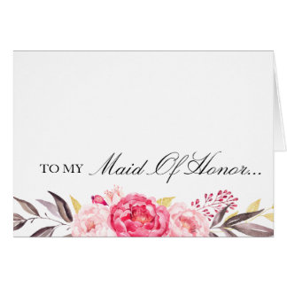 To My Maid of Honor, Thank You, Wedding Party Card