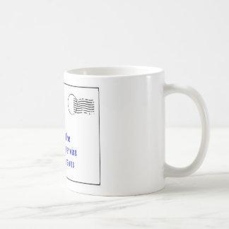to my mailman coffee mug