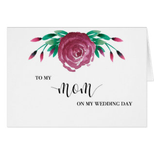To My Mom Wedding Day Card at Zazzle