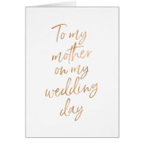 To my mother on my wedding | Stylish Gold Rose
