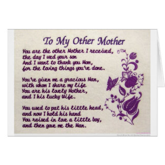 To My Other Mother; Thank You Greeting Card