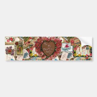 To My Own True Love ~ Vintage Valetines Bumper Sticker