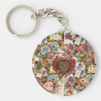 To My Own True Love Vintage Valetines Keychains