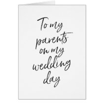 To my parents on my wedding | Stylish Lettered