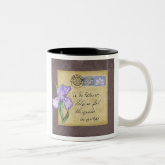 To my patience. Two-Tone coffee mug