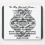 To My Secret Love Mouse Pad - Customize