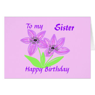 To my Sister Card