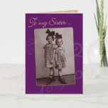 """To My Sister Vintage 1920s Birthday Card<br><div class=""""desc"""">This is my Mom and her younger sister,  circa 1926,  Germany. Sisters and friends until the end!</div>"""