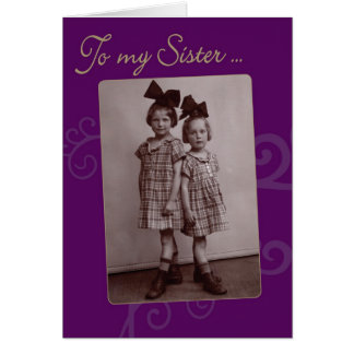 To My Sister Vintage 1920s Birthday Card