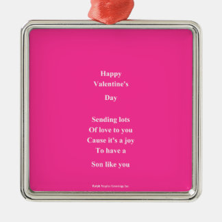 To my son Valentine's Day Metal Ornament