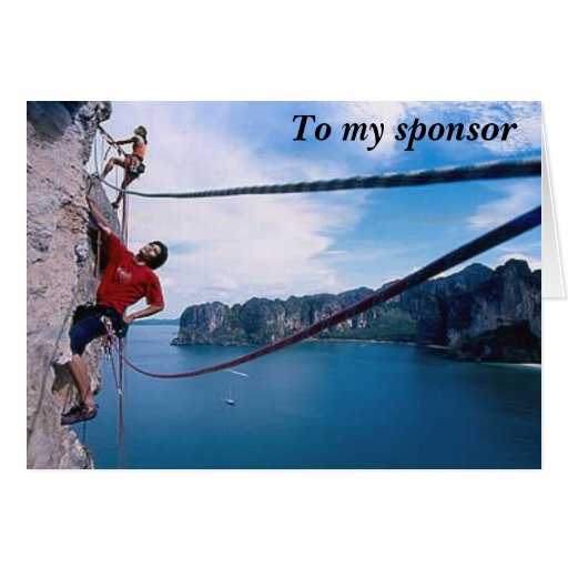 To my sponsor thank you 2 greeting card