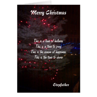 To my stepfather christmas greeting cards