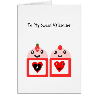 To My Sweet Valentine Card