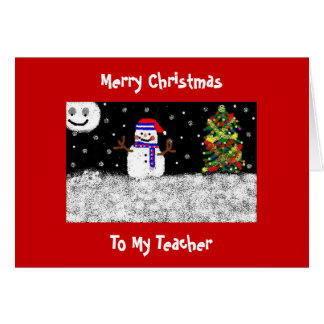 To My Teacher, Merry Christmas Card