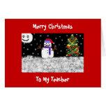 To My Teacher, Merry Christmas Greeting Card