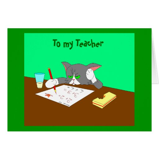 , To my Teacher Stationery Note Card