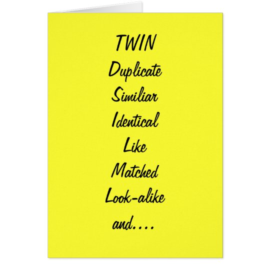 TO MY TWINBEST FRIEND BIRTHDAY CARD – Best Friend Birthday Card