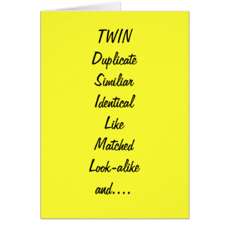 TO MY TWIN SIS AND BEST FRIEND BIRTHDAY GREETING CARD