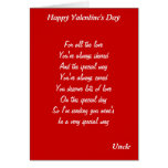 To my  uncle on valentine's day cards