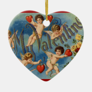 To My Valentine Ceramic Ornament