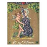 To My Valentine Cherub Vintage Valentine Postcard