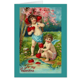 To My Valentine Cupids at the River Card