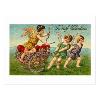 To My Valentine Cupids Postcard