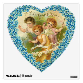 To My Valentine Floral Heart Wall Stickers