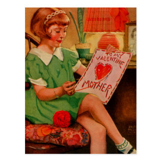To My Valentine Mother Post Card