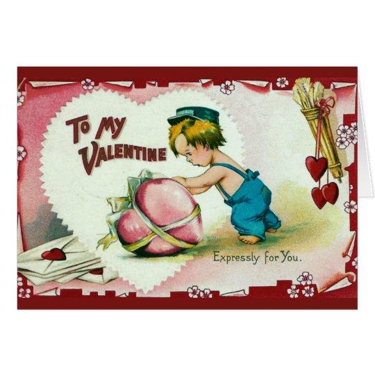 To my Valentine Vintage Card