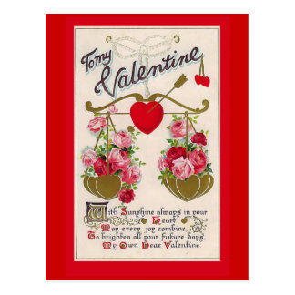 """To my Valentine"" Vintage Postcard"