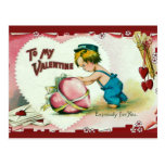 To my Valentine Vintage Postcard