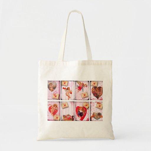 To My Valentine Vintage Valentine's Day Cupid Bags
