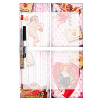 To My Valentine Vintage Valentine's Day Cupid Dry-Erase Board