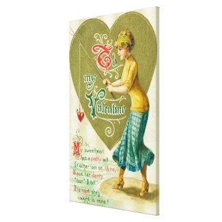 To My Valentine Woman Canvas Print