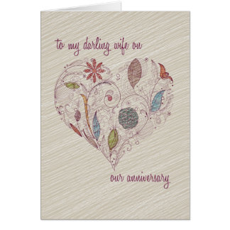 To my wife Anniversary Card