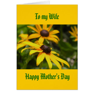 To my Wife, Happy Mother's Day Card