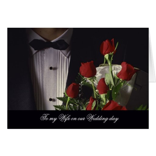 Wedding Gift For Husband Forum : To my Wife or Husband on our Wedding day Card Zazzle