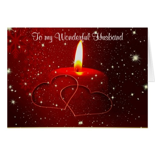 To my wonderful husband christmas from wife greeting card